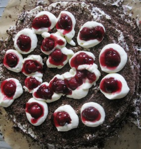 black forest cake before journey to Plänterwald