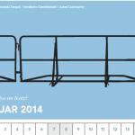 der kalender des irights-jahrbuchs mit zaunmodellen der umzäunten Gemeinschaft