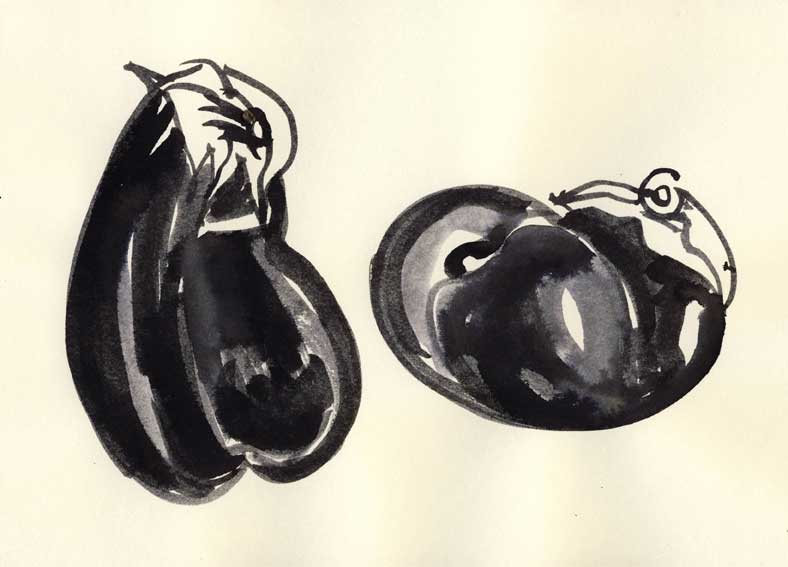 two twerking eggplants (landscape)